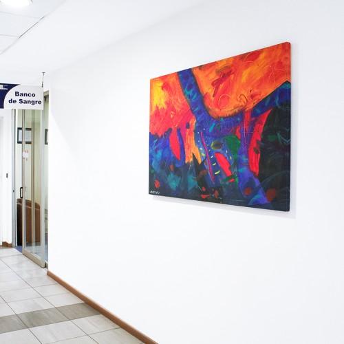 <span>Hospital Puerta de Hierro</span>: Reproducción Artística elaborada y montada por nosotros.<br>Autor de la pintura: