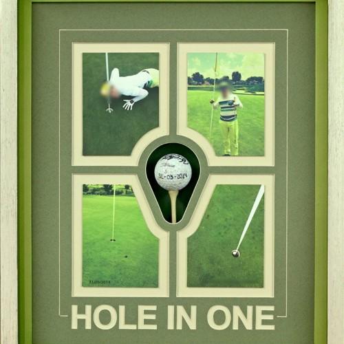 <span>Pelota de Golf</span>: Enmarcado, diseño de la María Luisa y del collage elaborado por nosotros.