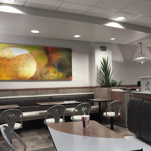 <span>McDonalds</span>: Reproducción Artística elaborada y montada por nosotros.<br>Autor de la pintura: Emmanuel Gless.